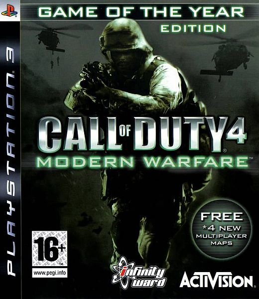 Call of Duty 4: Modern Warfare GOTY Edition, Игри за PlayStation 3