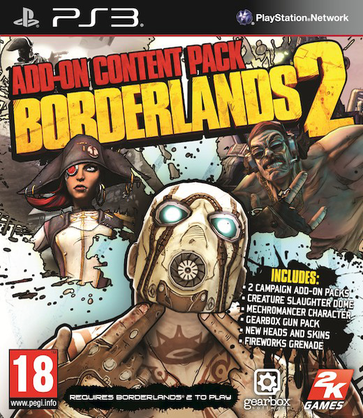 Borderlands 2 Add-On Pack, Игри за PlayStation 3