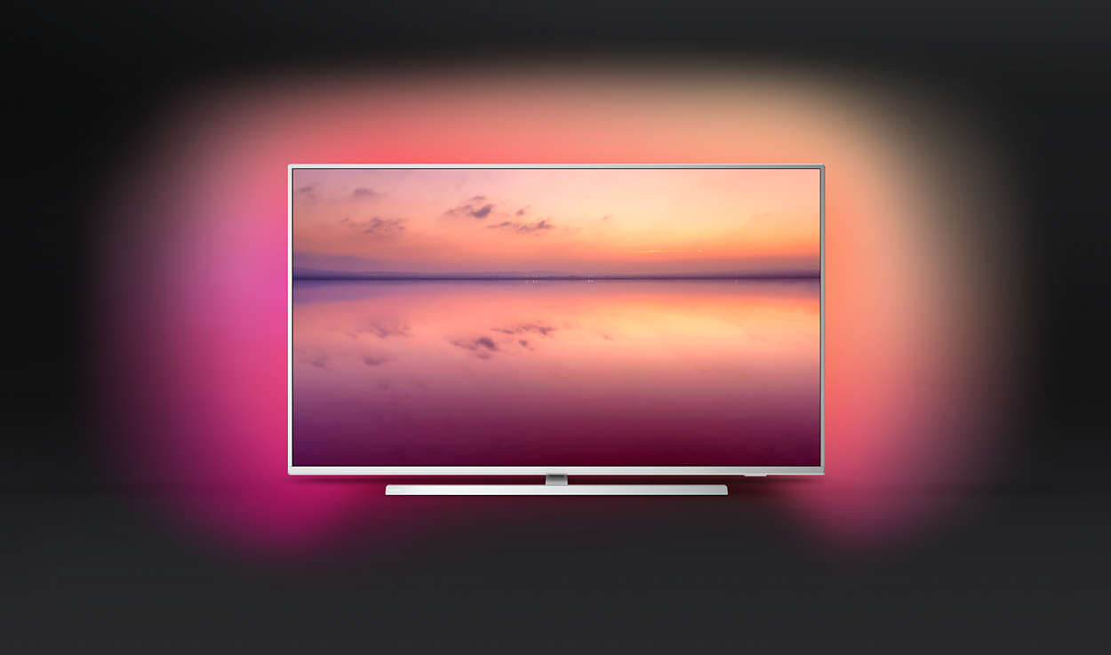 "Philips 43PUS6804/12, 43\"" (109.22 cm)UHD/4K Smart LED TV, DVB-T/T2/T2-HD/C/S/S2, LAN, Wi-Fi 3x HDMI, 2x USB, Ambilight - Увеличи снимката"