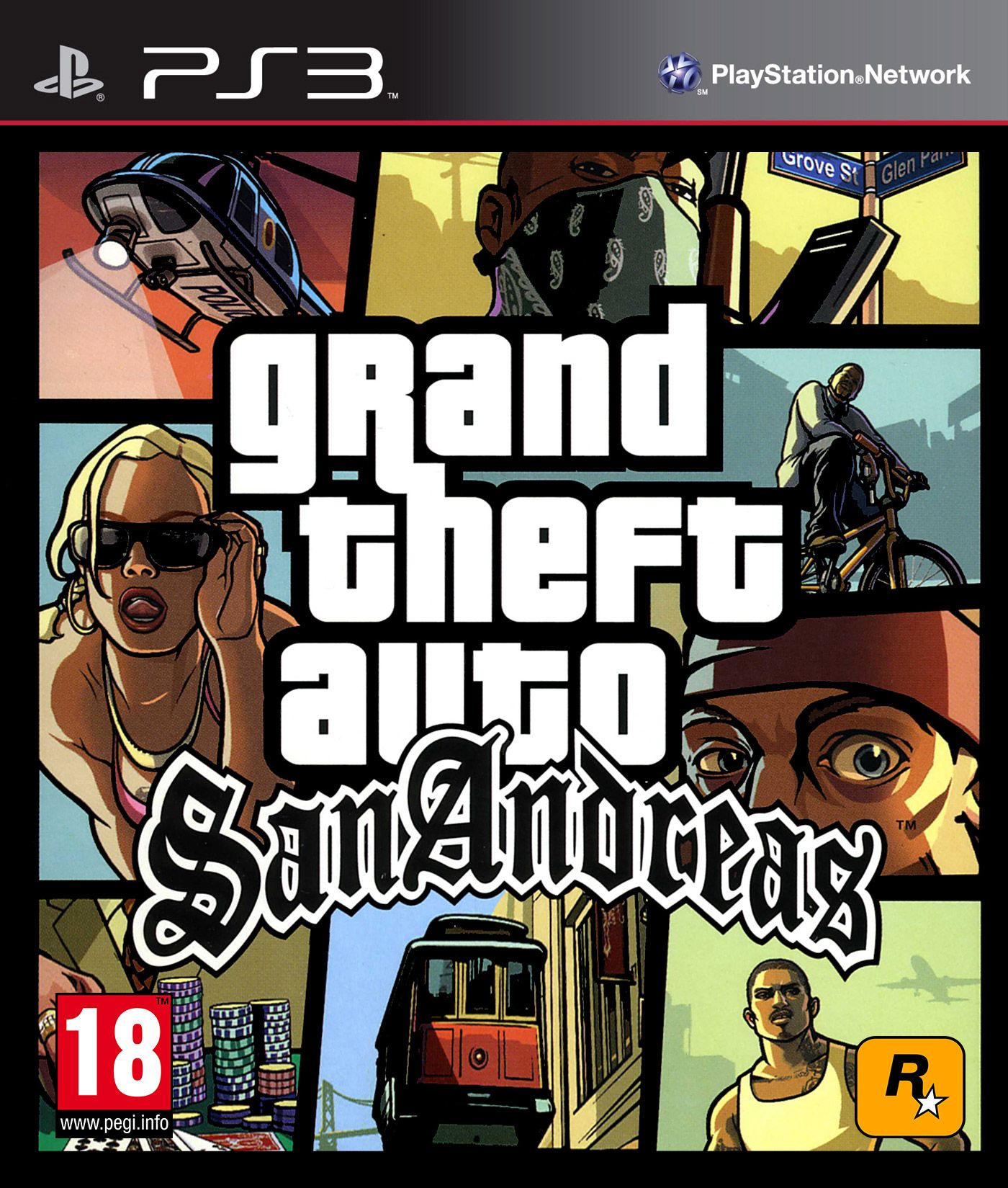 Grand Theft Auto: San Andreas, Игри за PlayStation 3