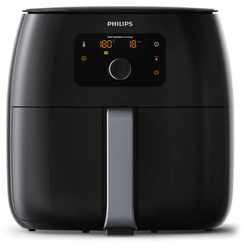 Philips Airfryer XXL HD9650/90, Фритюрник 1,4 кг, RapidAir, Twin TurboStar, 2225 W, черен
