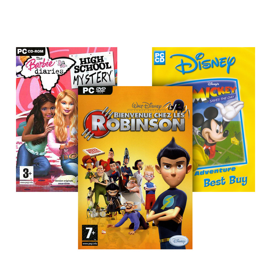Barbie Diaries + Meet the Robinsons + Mickey Saves The Day (пакет 3 в 1), Игри за PC