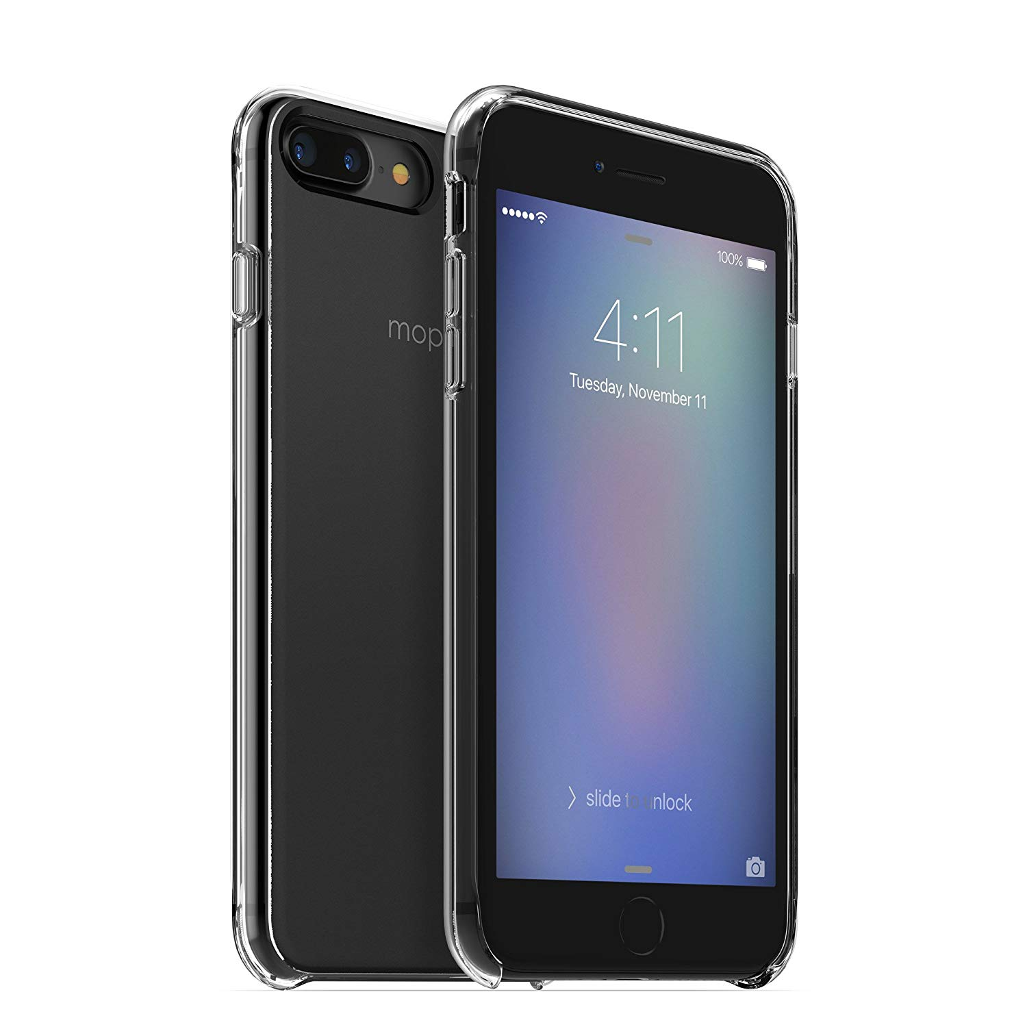 Mophie Hold Force Base кейс за iPhone 7/8 + (черен)