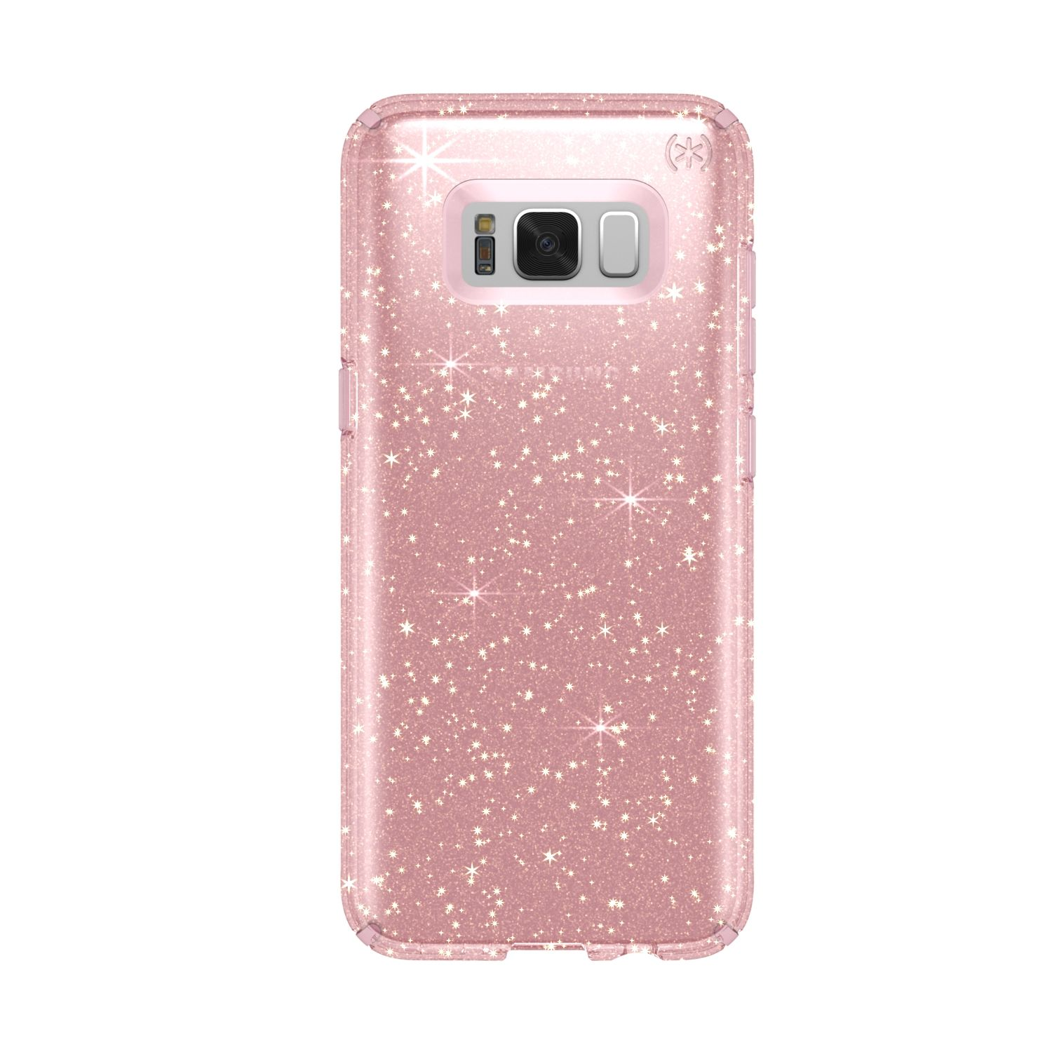 Протектор Speck Presidio за Samsung Galaxy S8, Clear Gold Glitter/Rose Pink, SPS8CLRP