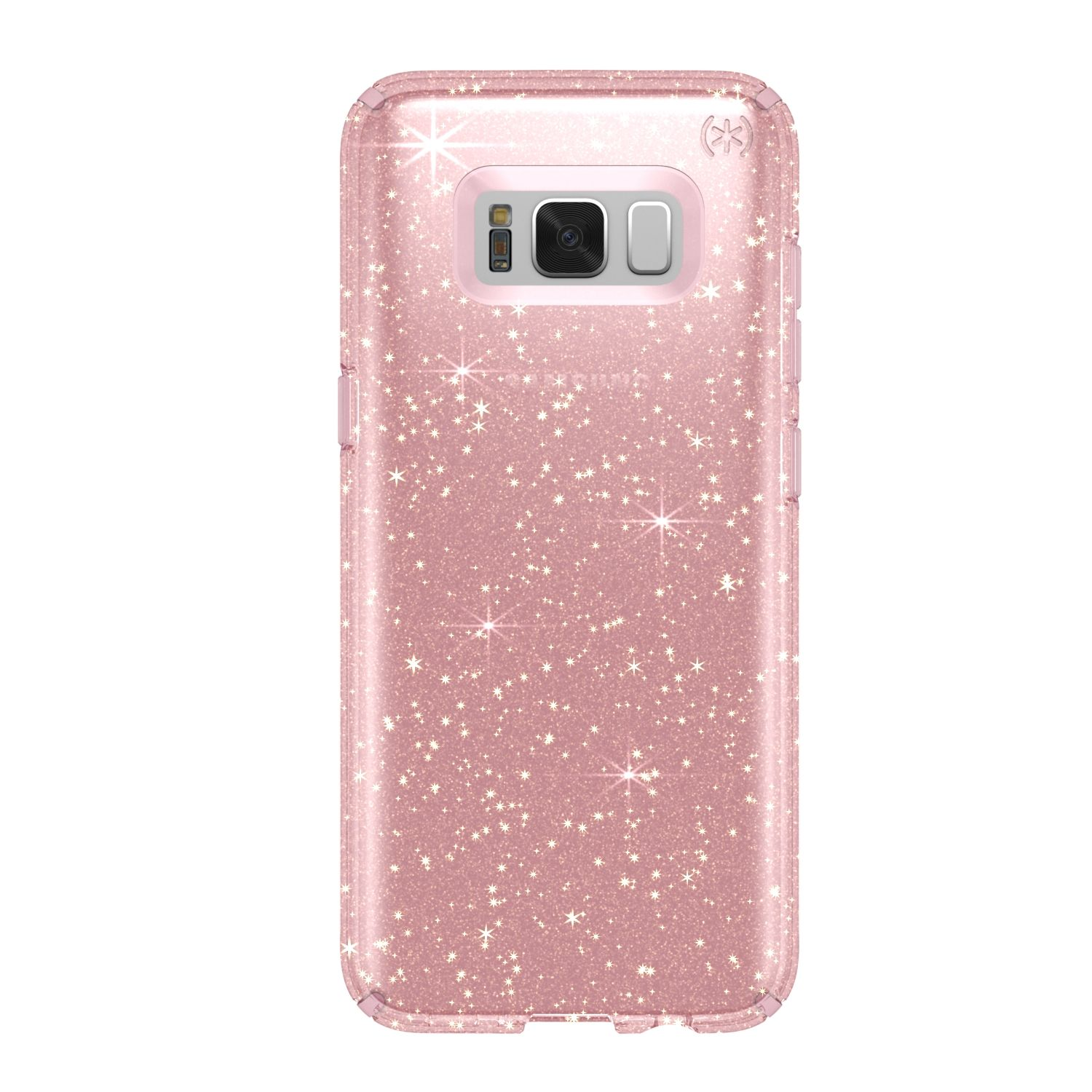 Протектор Speck Presidio за Samsung Galaxy S8 Plus, Clear Gold Glitter/Rose Pink, SPS8PCLRP